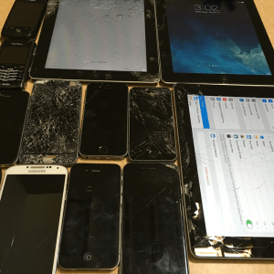 Broken iPads iPhones and Smartphones