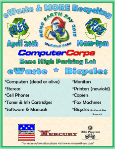 recycle laptops tablets smartphones flyer