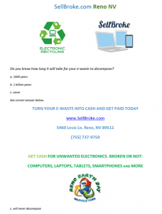 recycle laptops tablets and smartphones flyer