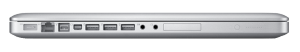 Macbook Pro A1297 17 inch Laptop side view