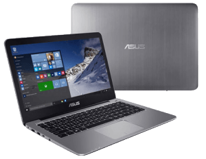 Asus VivoBook E403SA Laptop front and back
