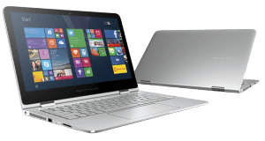 HP Spectre X360 Notebook front and back