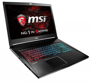 MSI GS43 VR 14-inch Laptop Right Angle
