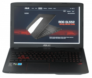 Asus GL552 Gaming Laptop Front