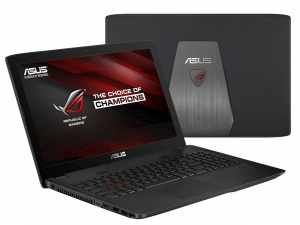 Asus GL552 Gaming Laptop Front and Back