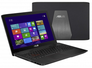 Asus ZX50 Front and back Laptop