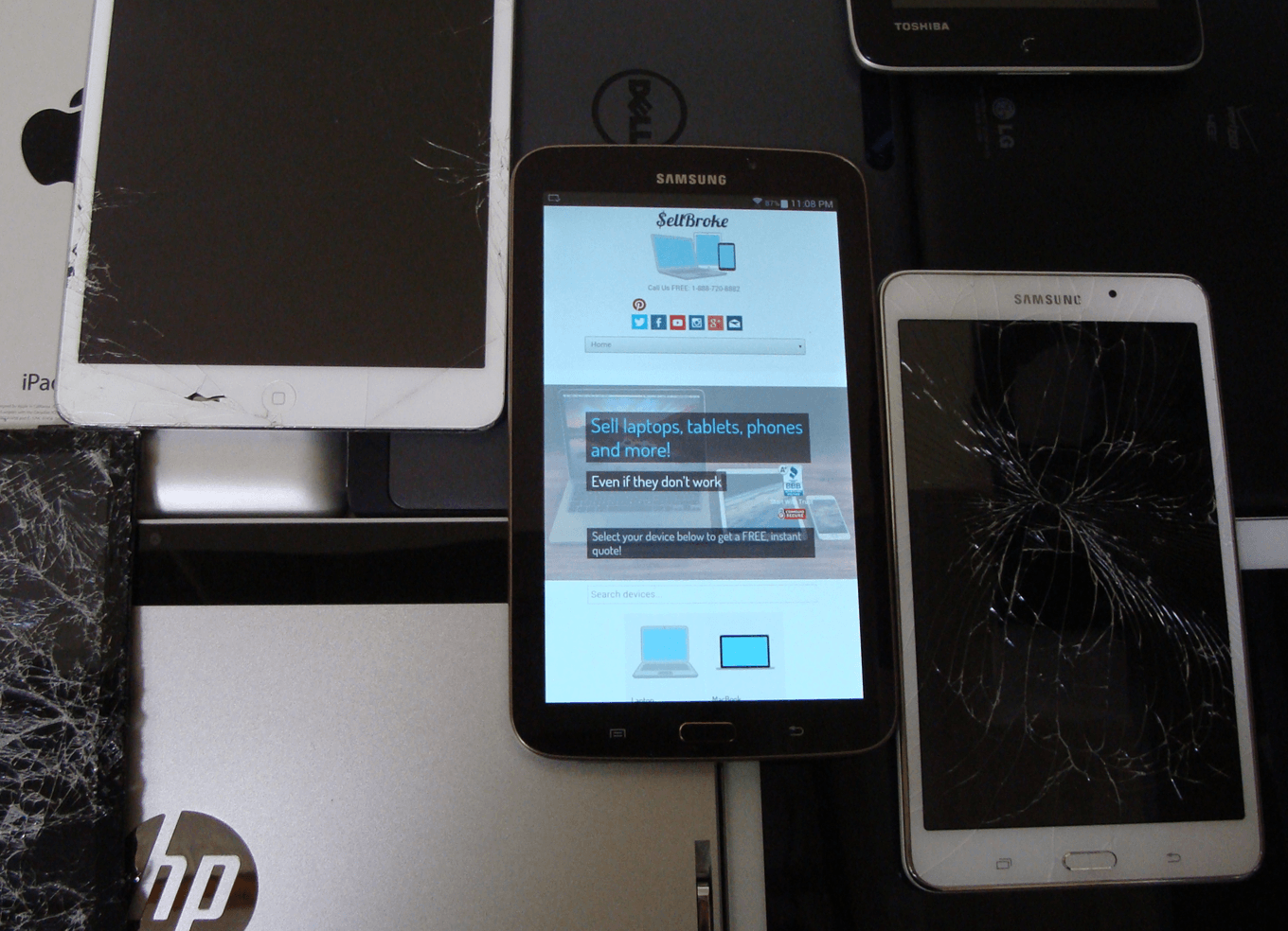 Sell Broken Tablet. We pay cash for broken tablets.