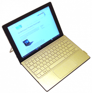 HP Spectre X2 Laptop and Tablet Right Side From Above