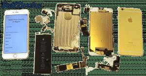 Broken iPhone 6 Plus in parts