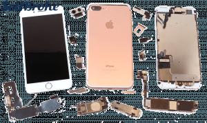 Broken iPhone 7 in parts