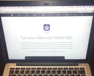 iMovie on MacBook Pro