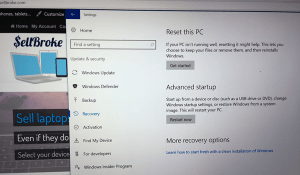 Restore Laptop Settings before Selling