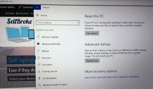 Restore Laptop Settings before Selling
