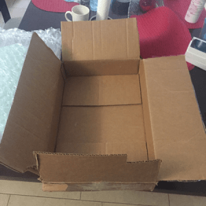 Shipping box for MacBook Pro laptop