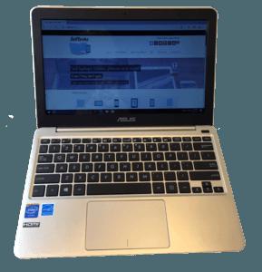 ASUS X205T Laptop Front View
