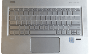 HP Envy 13 Laptop 2016 Keyboard from Above