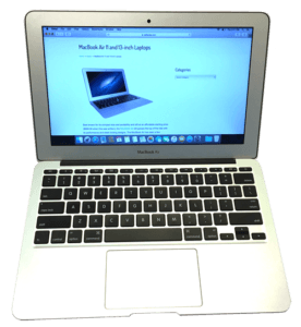 MacBook Air A1465 11 Laptop Front View