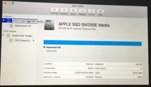 Macbook Pro System Storage Information