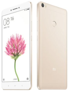Xiaomi Mi Max Phone Front and Back