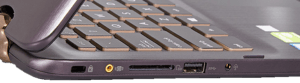 Asus Q524 Laptop Left Side Ports