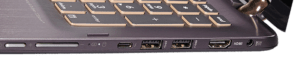 Asus Q524 Laptop Right Side Ports