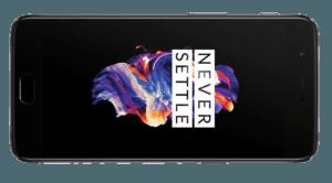 OnePlus 5 Phone Sideways