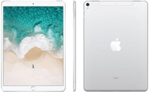 iPad Pro 10.5 front side profile and back