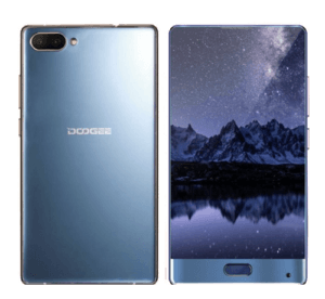 Doogee Mix Phone Blue Back and Front