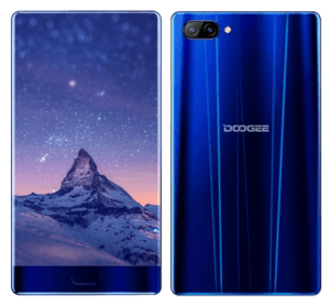 Doogee Mix Phone Dark Blue Back and Front