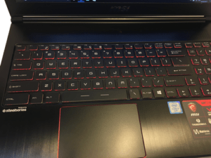 MSi Stealth GS63VR Laptop Palmrest and Touchpad