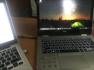 MacBook Pro and Dell 13 7000 Laptops