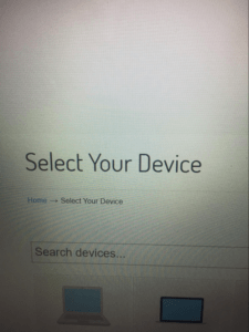 select your device on sellbroke