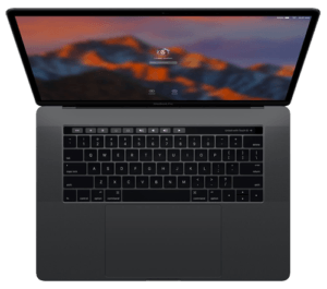 MacBook Pro 15 Graphite from above