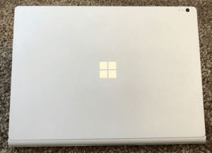 microsoft surface book laptop lid