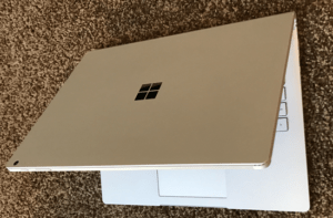 microsoft surface book laptop top from above
