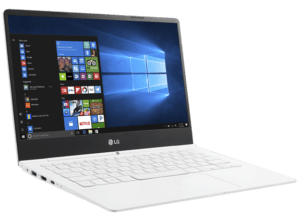 LG Gram Laptop White Left Angle