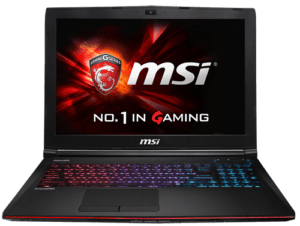 MSI GE62 Laptop Front