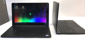 Razer Blade Laptop Front and Side