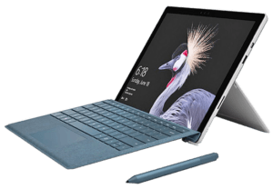 2017 microsoft Surface Pro Tablet Right Angle with Pen