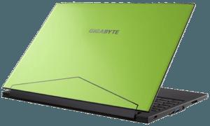 Gigabyte Aero 14 Laptop Back Green