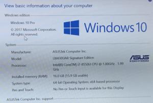 Asus Zenbook UX430 Laptop Specs