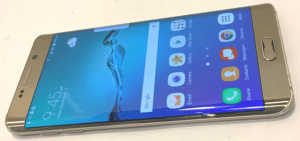 Samsung Galaxy S6 Edge Phone Sideways