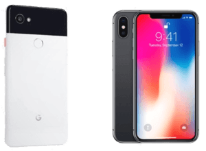 Apple iPhone X vs Google Pixel 2 Smartphones