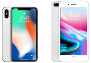 iPhone 8 Plus vs iPhone X Silver