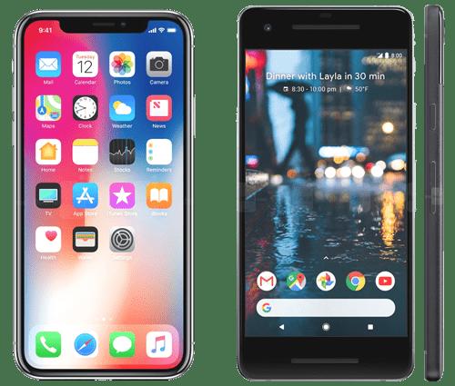 Top Selling Phones. Pixel 2 Vs IPhone X