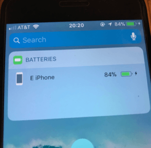 Almost Fully Charged iPhone