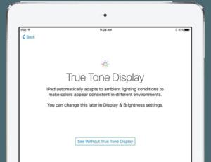 iPad Pro True Tone