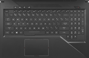 Asus Strix GL503VS Laptop Keyboard and Trackpad