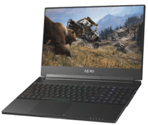 Gigabyte Aero 15 Laptop Right Angle