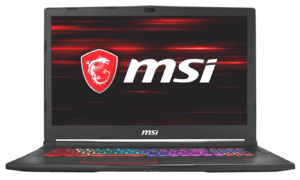 MSI GE73 Laptop Display